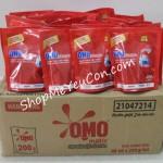 Thùng 40 gói nước giặt OMO đỏ 200ml