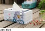 Hộp giấy ăn gỗ chủ đề biển