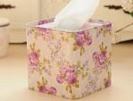 Hộp giấy ăn sắt hình vuông – tím hoa cà
