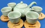 Bộ ấm chén uống trà sứ Hàn Quốc Sharp