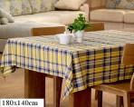 Khăn trải bàn kẻ xanh vàng