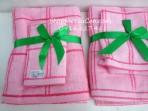 Bộ khăn tắm + khăn mặt Best Comfor kẻ ô