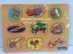 Bảng gỗ ghép hình nhạc cụ Enfa