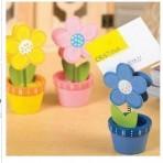 Chậu hoa gỗ kẹp ảnh/ giấy note