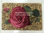Thảm lau chân hoa hồng nổi