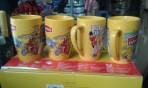Bộ 4 cốc sứ Lipon vàng