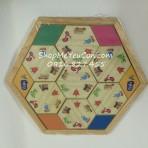Bộ xếp hình gỗ lục giác Enfa