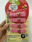 Set 4 kẹp miệng túi dâu tây hàng Nhật