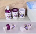 Bộ phòng tắm hoa tím 3 món