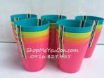 Bộ 4 cốc 4 màu không quai PN1060