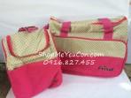 Túi mẹ và bé Friso màu hồng