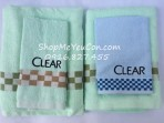 Bộ khăn tắm + khăn mặt Clear