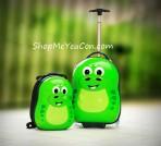 Bộ vali kéo + balo đeo Cuties Khủng long xanh