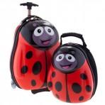 Bộ vali kéo + balo đeo Cuties Cánh cam