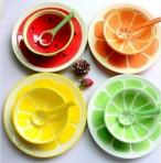 Bộ bát, đĩa, thìa hình trái cây