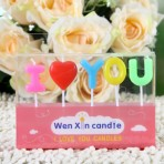 Nến chữ I love U