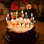 Nến chữ Happy Birthday (mẫu hộp)