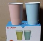 Bộ 2 ly sứ DongHwa sắc màu Sharp