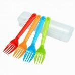Bộ 4 dĩa nhựa nhiều màu kèm hộp Inomata