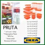 Bộ 17 hộp thực phẩm Pruta Ikea màu cam