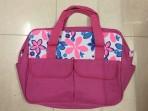 Túi đựng đồ cho mẹ và bé Dielac hoa (hồng)