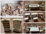 Bộ lắp ghép đồ nội thất bằng gỗ tí hon 184pcs