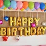 Bóng bay chữ Happy Birthday