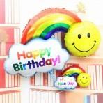 Bóng bay cầu vồng Happy Birthday (cỡ to)