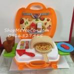 Cặp đồ chơi làm bánh Pizza 22pcs