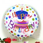 Bóng bay trang trí hình tròn in chữ Happy Birthday
