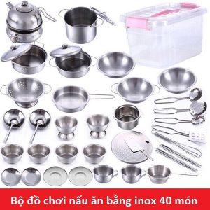 Bộ đồ chơi nấu bếp bằng inox 40 món