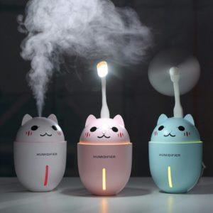 Máy phun sương tạo ẩm mini 3 tác dụng hình mèo