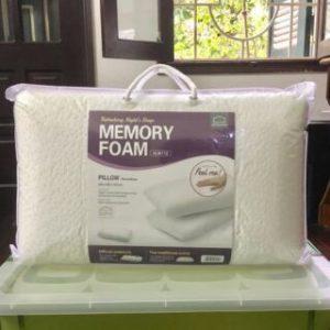 Gối thẳng Lock&Lock Memory Foam 50D 50x30x10cm HLW112