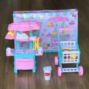 Bộ đồ chơi Tủ bếp và Xe đẩy siêu thị mini