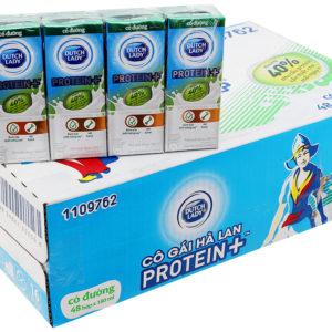 Sữa tiệt trùng Dutch Lady Protein+ Có đường 180ml (thùng 48 hộp)