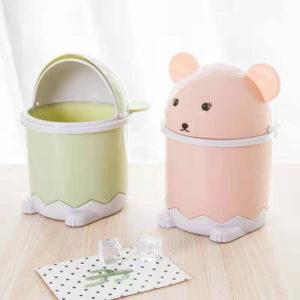 Thùng rác mini để bàn hình gấu