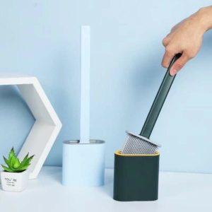 Chổi coi toilet silicon có giá đựng dán tường